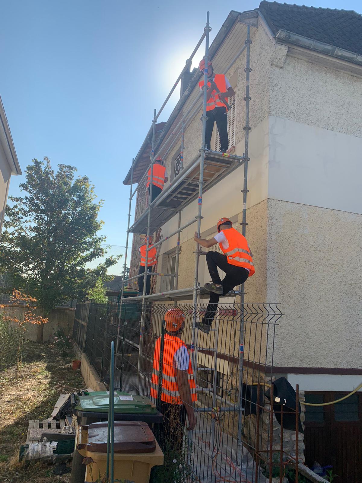Artisans sur le chantier